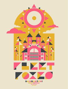 Poster for Fleet Foxes by The Silent Giants, L-O-V-E their work! : )