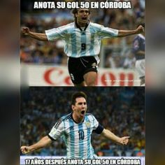Batistuta y Messi marcan su gol 50 en el mismo lugar