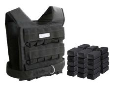 Weight Vest 66 Lbs Adjustable. Add weight resistance to your workout. Fits 30 blocks at a time 15 front/ 15 back for even weight distribution. Adjustable velcro closure. Heavy duty reinforced nylon.