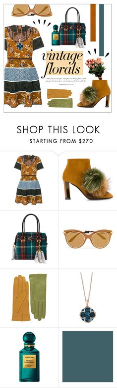 """""""VINTAGE FLORAL VIBES"""" by mars-sixieme ❤ liked on Polyvore featuring Coach, Pollini, Miu Miu, Dolce&Gabbana, Effy Jewelry, Tom Ford, Old Navy and vintage"""