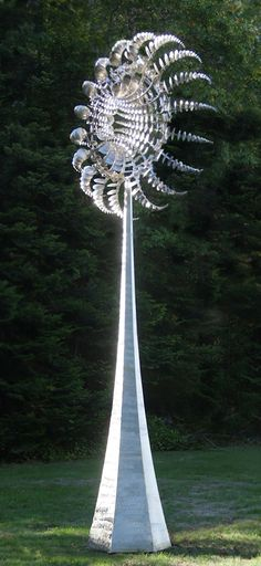 "Anthony Howe ""In Cloud Light"" Salt Lake City, Anthony Howe, Utah, Art Du Monde, Cloud Lights, Wind Sculptures, Kinetic Art, Wind Spinners, Outdoor Sculpture"