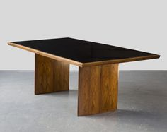 dining room table but with a raw wood top?