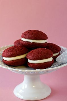 Red Velvet Whoopie Pies | Recipe via Brown Eyed Baker