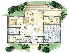 Holzhaus bungalow grundriss  Grundriss Erdgeschoss Bungalow Walmdach 96 | Grundrisse ...