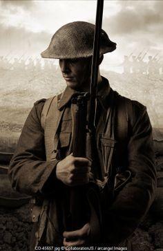 WW1 british soldier © CollaborationJS / Arcangel Images