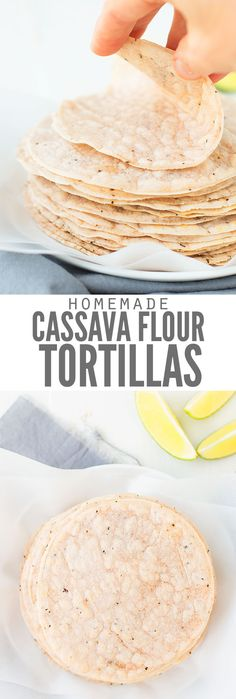 Do you miss Taco Night due to food allergies? Want Taco Tuesdays back? Delicious cassava flour tortilla recipe works for AIP, Paleo & gluten-free and uses only 5 whole foods ingredients. These are the best easy grain-free tortillas! Cassava Flour Tortilla Recipe, Cassava Recipe, Recipes With Flour Tortillas, Homemade Flour Tortillas, Gluten Free Tortillas, Low Carb Recipes, Whole Food Recipes, Free Recipes, Paleo Recipes