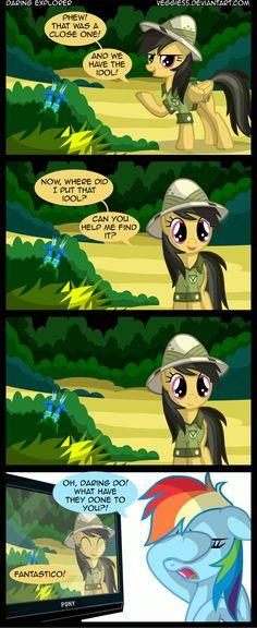 Daring Do meets Dora the Explorer