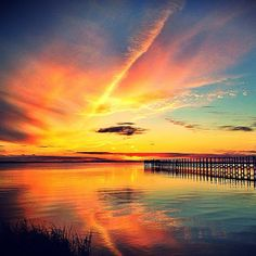 Amazing sunset photo by Carolyn Taylor taken in Nags Head, North Carolina.