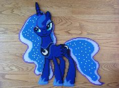 Princess Luna Looking Somewhat Seductive Perler by OddishPonyGirl.deviantart.com on @DeviantArt