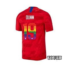 New Tobin Heath #17 2019//2020 USA Away Soccer Jersey /& Shorts for Kids//Youths Red