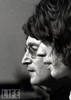 John Lennon and Mick Jaggar