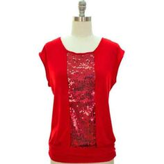 red sequin tops - Google Search