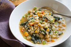 Chickpea stew with orzo and mustard greens (Photo: Evan Sung for The New York Times)