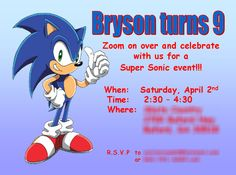 """Photo 9 of 10: Sonic the Hedgehog / Birthday """"Sonic the Hedgehog - 9th Bday""""   Catch My Party"""