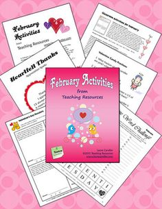 FREE from Laura Candler ~ February Activities from Teaching Resources on TpT. Downloaded more than 100,000 times from TpT. Need engaging activities for February? This 25-page packet offers ready-to-use lessons and activities for February that foster higher level thinking while motivating students. Activities include math word problems, a candy heart fraction lesson, a friendship poetry activity, a word challenge, and directions for writing a President or Black History biography.