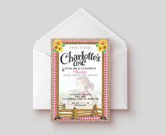 Digital Charlotte's Web Inspired Birthday Invites by HouseofEmery