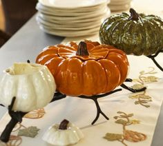 Shop Pottery Barn for spooky Halloween dinnerware. Find stylish and scary Halloween plates and bowls featuring mummies, cats, pumpkins and more. Halloween Gourds, Fall Halloween, Pottery Barn Halloween, Halloween Table, Halloween House, Scary Halloween, Happy Halloween, Halloween Party, Thanksgiving Decorations