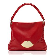 Lulu Guinness Red Nappa Leather Nicola Women's Bag