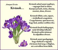 Erdélyi keresztények: Kívánok… (kép) Happy Birthday, Birthday Parties, Poems, Thoughts, Quotes, Plants, Life, Happy Anniversary, Birthday Celebrations