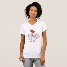 Its Love (Valentine's Day) T-Shirt - valentines day gifts love couple diy personalize for her for him girlfriend boyfriend