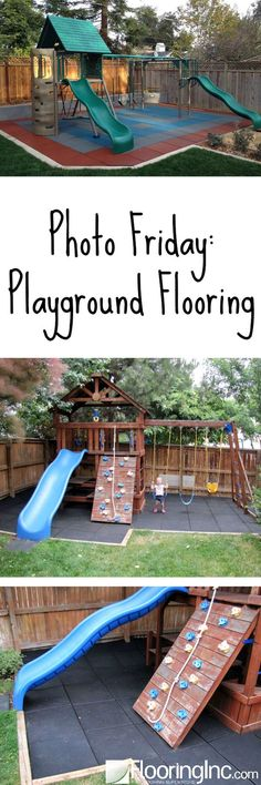 Photo Friday: Playground flooring in action! Thinking about creating a home play… Photo Friday: Playground flooring in action! Thinking about creating a home playground? Here's your inspiration!