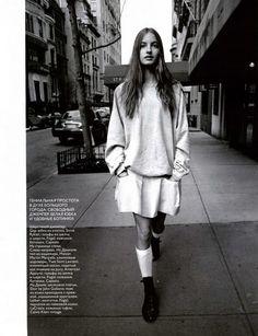 some girls, style, fashion, knee socks, girls, editorial, blog, back to school