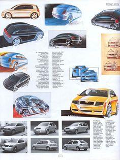 OG | Škoda Fabia | Design Story with sketches and mock-ups