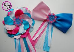 Gender reveal baby shower  Baby Shower Corsage Mommy to Be