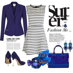 """Fashion Me .."" with Dori's Indigo earrings, by afsanerf250 on Polyvore"