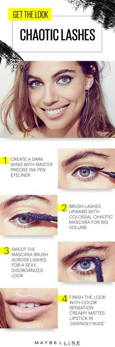 Come perfectly undone with the disorganized eyelash trend that's taking summer makeup by storm. Get bold with Master Precise Ink Pen eyeliner. Embrace chaos with Colossal Chaotic Lash mascara. Finish the look with pouty lips, courtesy of Color Sensational Creamy Mattes lipstick. Get the look and run with it!