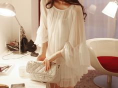 soft and elegant - i need to find a flowy dress like this.
