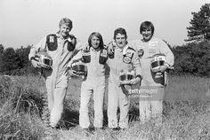 Formula 1 Grand Prix De France 1977 Circuit Of Dijon-Prenois: Test Sessions. Prenois, juin 1977 : Les essais du Grand Prix de France de Formule 1 1977 sur le circuit de Dijon-Prenois : avec Guy LIGIER, Jacques LAFFITE, Patrick DEPAILLER, Jean-Pierre JARIER et Jean-Pierre JABOUILLE; la nouvelle voiture de F1 Renault RS 01 qui ne participera pas au Grand Prix.