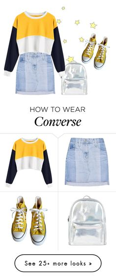 """""""I'm loving you more"""" by emily-princess on Polyvore featuring AG Adriano Goldschmied, Accessorize and Converse"""
