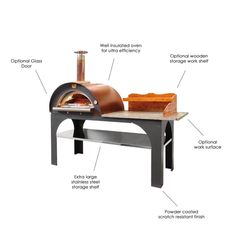 Built from high grade materials in the heart of Italy, the Clementi 'Pizza Party' Pizza Oven is perfect for the entertainer in you! Wood Fired Oven, Wood Fired Pizza, Big Green Egg Large, Oven Top, Firewood Holder, Seasoned Wood, Types Of Insulation, Oven Canning