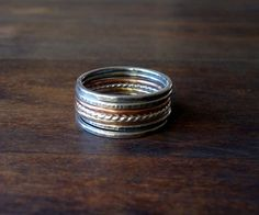 bff stacking rings.  one for every 5 years. @Kelly Cole