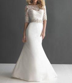 Corded Flower & Beads 2014 New white/ivory wedding dress by JUMX, $160.00