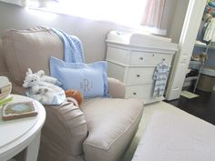 Gray Baby Boy Nursery Light Blue Accents
