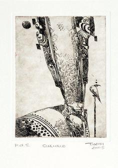 Acquaforte su cartoncino cm 25x36 (incisione cm 11x15).