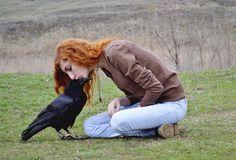 photo by Ksenia Mashkina my common raven Kralya and me