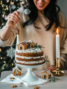 Ihana Piparkakku-kakku (M) | Annin Uunissa Nordic Christmas, Christmas Elf, Xmas, Christmas Inspiration, Food Inspiration, Yule Traditions, Birthday Candles, Birthday Cake, Most Delicious Recipe