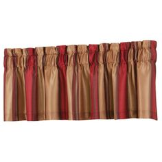allen   roth�18-in L Red Alison Tailored Valance lowes