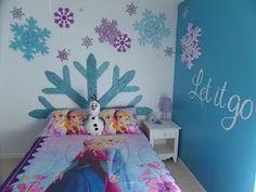 Dormitorios para niñas tema Frozen