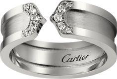 ロゴ リング ロゴ ドゥーブル C ホワイトゴールド ダイヤモンド カルティエ Cartier
