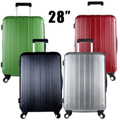 1 Piece Large Abs Pc 28 Inch Lightweight Hardside Travel Rolling Luggage Suitcase Spinner 4 Wheels