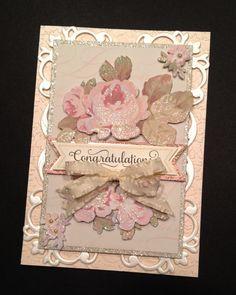 Fancy Floral Congratulations Card with por PinkPetalPapercrafts