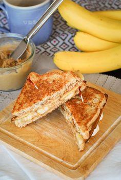 fried maple pb banana bacon sandwich