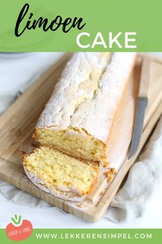 Lime cake - Tasty and simple - - Baking Recipes, Cake Recipes, Dessert Recipes, Dutch Recipes, Sweets Cake, Cupcake Cakes, Cupcakes, Lime Cake, Different Cakes