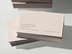 Presshaus LA is a design + letterpress studio in Los Angeles led by Kristine Arellano Minimalist Business Cards, Cool Business Cards, Business Ideas, Interior Design Business, Business Card Design, Stationery Design, Graphic Design Typography, Web Design, Brand Design