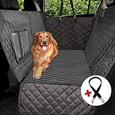 Pet Cargo Liner for Cars SUVs Nonslip /& Hammock /& Washable Pet Car Seat Cover with Side Flaps /& Seat Belt 100/% Waterproof Car Back Seat Protector Trucks Knodel Dog Car Seat Cover black