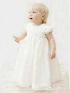 BaptismChristening Dress Broderie Anglaise White with Pink Belt